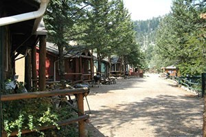 Rustic River Cabins :: 7 all-season, pet friendly rustic cabins on 16 acres tucked away on the Big Thompson River. Just 4 miles from the city center of Estes Park & minutes to Rocky Mountain NP!
