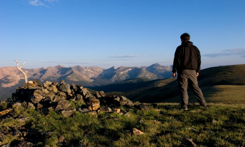 Hiking along the Continental Divide Trail