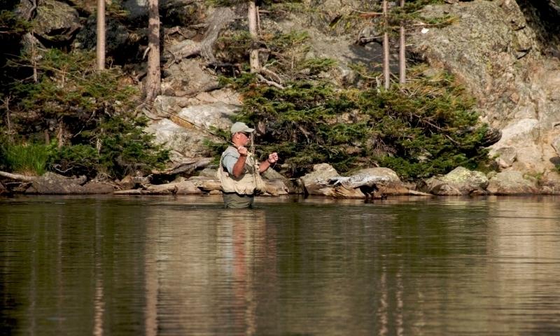 Fishing near Estes Park