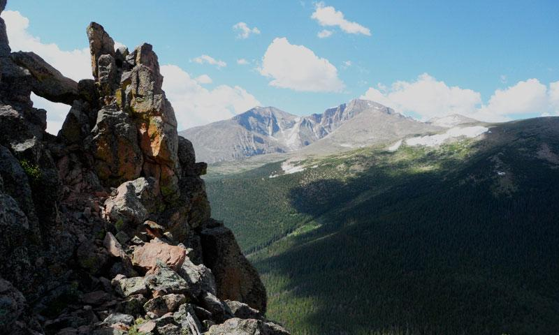 East Cone View of Longs Peak