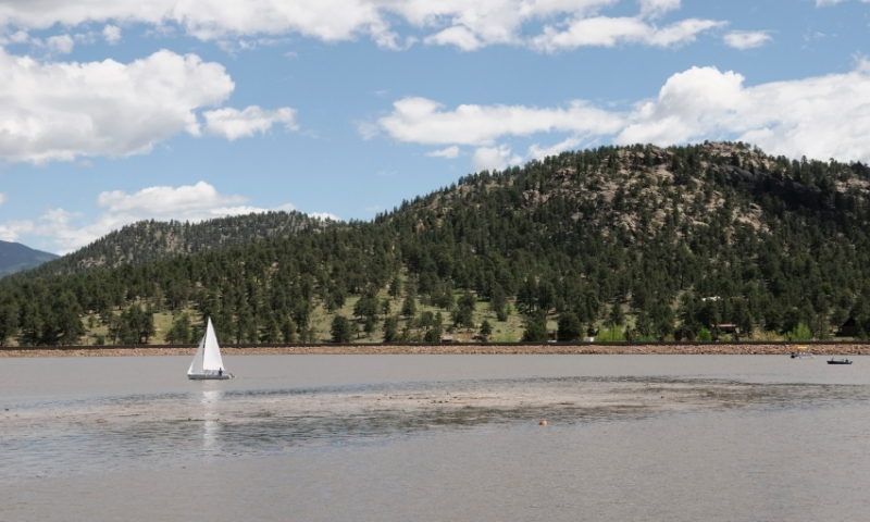Sailing on Estes Lake