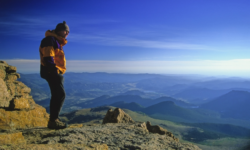 At the Summit of Longs Peak