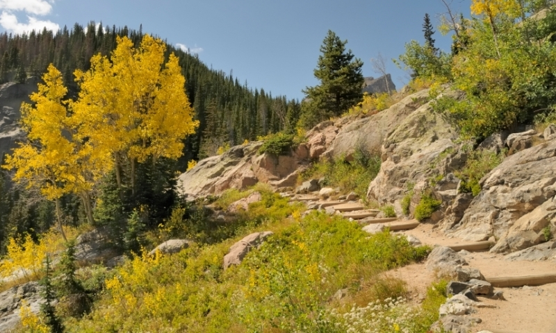 Hiking Trail near Estes Park Colorado