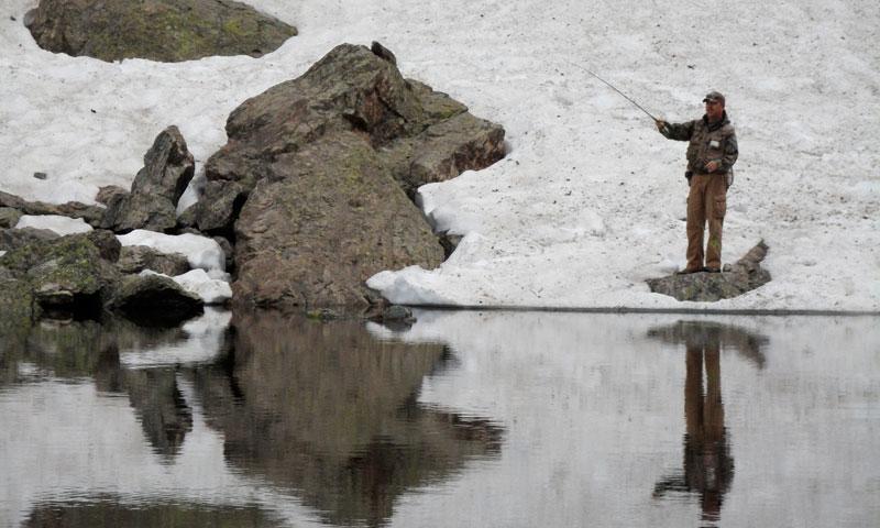 Estes Park Colorado Winter Fishing