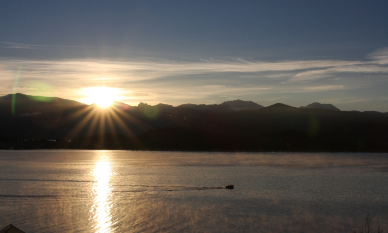 Sunrise over Shadow Mountain Lake