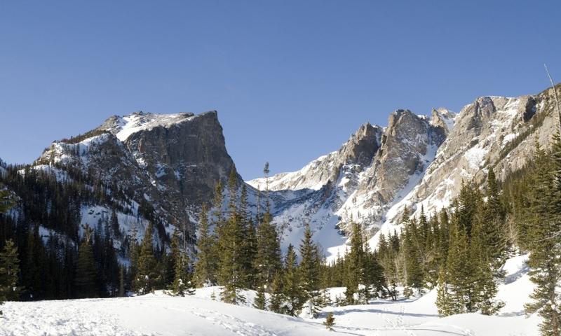 Rocky Mountain National Park Hallet Peak Colorado