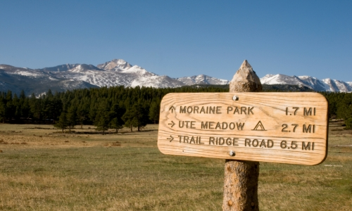 Hiking Moraine Park Colorado