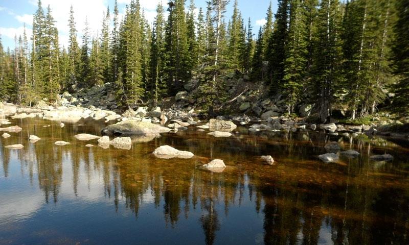 Upper Chipmunk Lake Pond Rocky Mountain National Park Estes Park Colorado